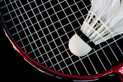 Badminton racket and birdie Royalty Free Stock Images