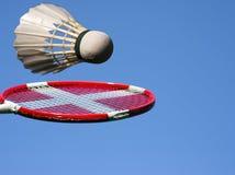 Badminton play sky blue royalty free stock photography