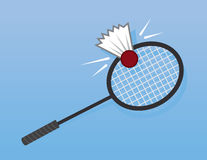 Badminton Racket Hit Royalty Free Stock Photos