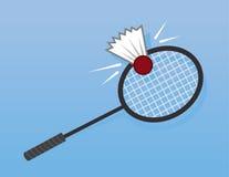 Badminton Racket Hit Royalty Free Stock Photos