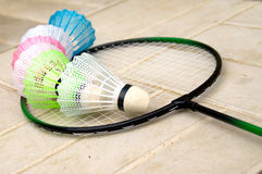 Badminton racket set Stock Image