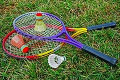 Badminton racket and shuttlecoc - 6 Stock Photography