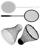 Badminton Racket And Shuttlecock Vector Royalty Free Stock Photography