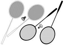 Badminton Racket And Shuttlecock Vector. Badminton Racket And Shuttlecock Isolated On White Vector Royalty Free Stock Photos