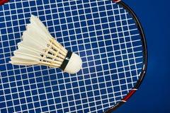 Badminton Racket and shuttlecocks Royalty Free Stock Photo