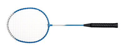 Badminton racket. On a white background Royalty Free Stock Photos