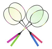 Badminton Rackets Royalty Free Stock Photo