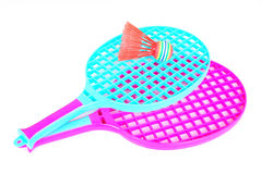 Rackets in pink Stock Images