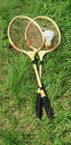 Badminton rackets Stock Photo