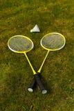 Badminton rackets Royalty Free Stock Photos
