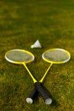 Badminton rackets Stock Image