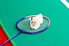 Badminton rackets and shuttlecock Royalty Free Stock Photos