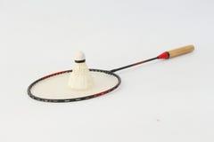 Badminton rackets on a white background Stock Photo