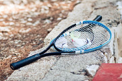 Badminton racquet entertainment sport game Royalty Free Stock Photos