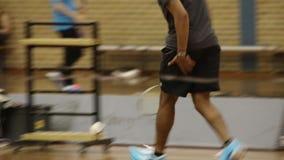 Badminton stock video footage
