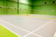 Badminton sąd Zdjęcie Stock
