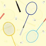 Badminton seamless vector pattern Royalty Free Stock Photography