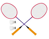 Badminton set vector illustration