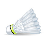 Badminton shuttlecock. Single badminton shuttlecock isolated on white Stock Photos