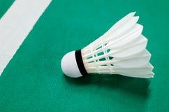Badminton Shuttlecock on the court Stock Photos