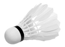 Badminton shuttlecock isolated Stock Image