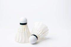 Badminton shuttlecock isolated on white background Royalty Free Stock Photo