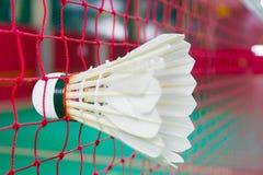 Badminton. Shuttlecock on net, badminton sports Stock Photography