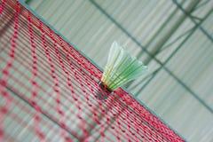 Badminton. Shuttlecock on net, badminton sports Royalty Free Stock Photography
