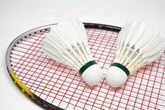 Badminton. Shuttlecock and racket for play badminton Stock Photography