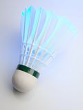 Badminton shuttlecock on white Royalty Free Stock Photography