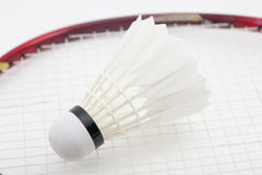 Badminton shuttlecock on white Stock Photo