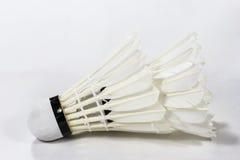 Badminton shuttlecock. On white background Royalty Free Stock Images
