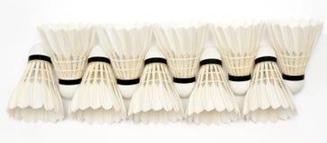 Badminton  shuttlecocks Stock Photos