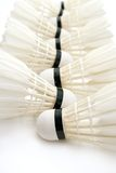 Badminton shuttlecocks as  background Stock Images