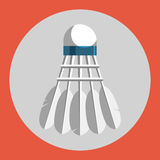 Badminton shuttlecocks icon. Colorful badminton shuttlecocks on a red background. Sports Equipment. Vector Illustration. Badminton shuttlecocks icon. Colorful Royalty Free Stock Image
