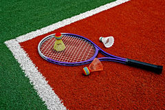 Badminton shuttlecocks & Racket-8 Zdjęcia Stock