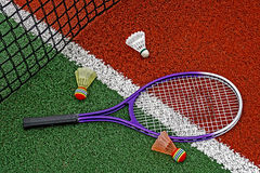 Badminton shuttlecocks & Racket-6 Royalty Free Stock Image