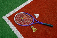 Badminton shuttlecocks & Racket-9 Royalty Free Stock Image
