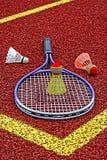 Badminton shuttlecocks & Racket-3 Stock Photos