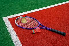 Badminton shuttlecocks & Racket-7 Stock Photos