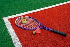 Badminton shuttlecocks & Racket-7 Stock Photos
