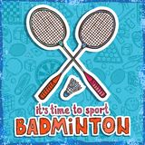 Badminton sketch background Royalty Free Stock Photos