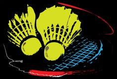 Badminton sport art Royalty Free Stock Photo