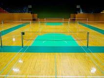 Badminton sport courts on stadium Royalty Free Stock Images