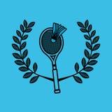 Badminton sport emblem icon Stock Photos