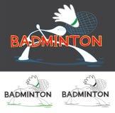 Badminton Sport Game Logo Stock Photos