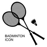 Badminton sport icon. Vector illustrations of Badminton sport icon. Rackets and shuttlecock Royalty Free Stock Images