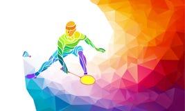 Badminton sport invitation poster or flyer Royalty Free Stock Photo