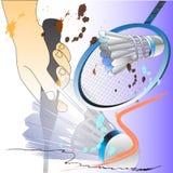 Badminton sporta kanta akci muśnięcie royalty ilustracja