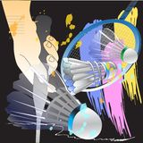 Badminton sporta kanta akci muśnięcie ilustracja wektor